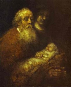 Rembrandt's Simeon in the Temple