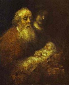 Rembrandt's Simeon in the Temple