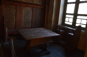 "Luther's actual dining room table, where much of his book ""Table Talks"" were compiled."