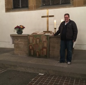 The altar where Luther first presided over communion