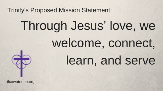 Trinity Proposed Mission Statement